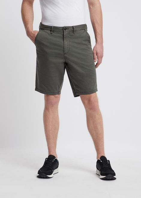5fef6ee2a2 ‎Bermuda Shorts In Pigment Dyed Stretch Cotton Satin ‎ for ‎Men‎ | ‎Emporio  Armani ‎