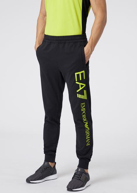 unverwechselbarer Stil neue bilder von am besten bewerteten neuesten Cotton Jogging Pants With Contrast Logo for Men | Emporio Armani