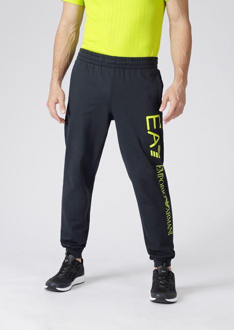 eff7e2f35b Train Logo Jogging Trousers In Baby French Terry Cotton for Men | Emporio  Armani