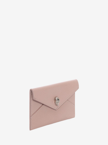 ALEXANDER MCQUEEN Small Grain Calf Envelope Card Holder Card Holder D r