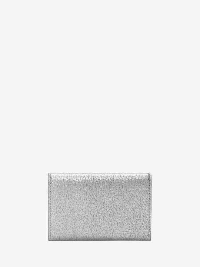 ALEXANDER MCQUEEN Matt Metallic Grain Envelope Card Holder Card Holder D d