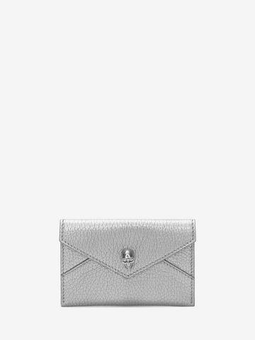 ALEXANDER MCQUEEN Matt Metallic Grain Envelope Card Holder Card Holder D f