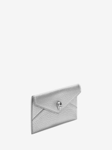 ALEXANDER MCQUEEN Matt Metallic Grain Envelope Card Holder Card Holder D r