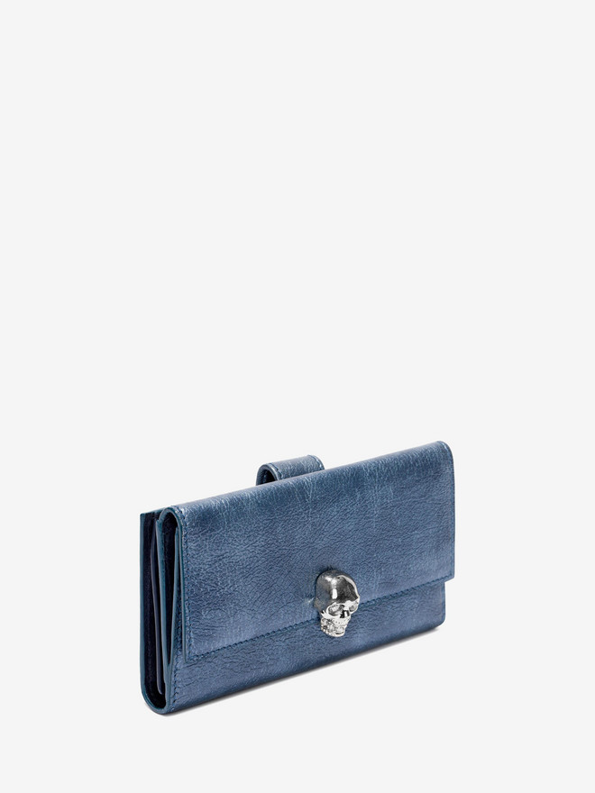 ALEXANDER MCQUEEN Denim Continental Wallet Wallet D r