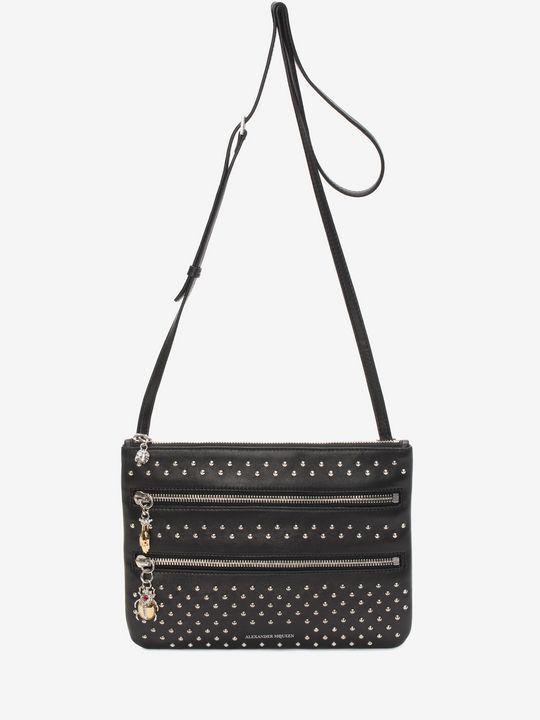 ALEXANDER MCQUEEN Wallet Woman Nappa Studded Zip Pouch f