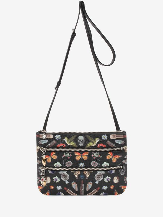 ALEXANDER MCQUEEN Wallet Woman Obsession Print Zip Pouch f