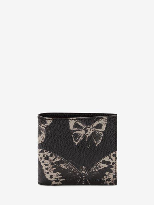 ALEXANDER MCQUEEN Wallet Man Victorian Moth Billfold Wallet f