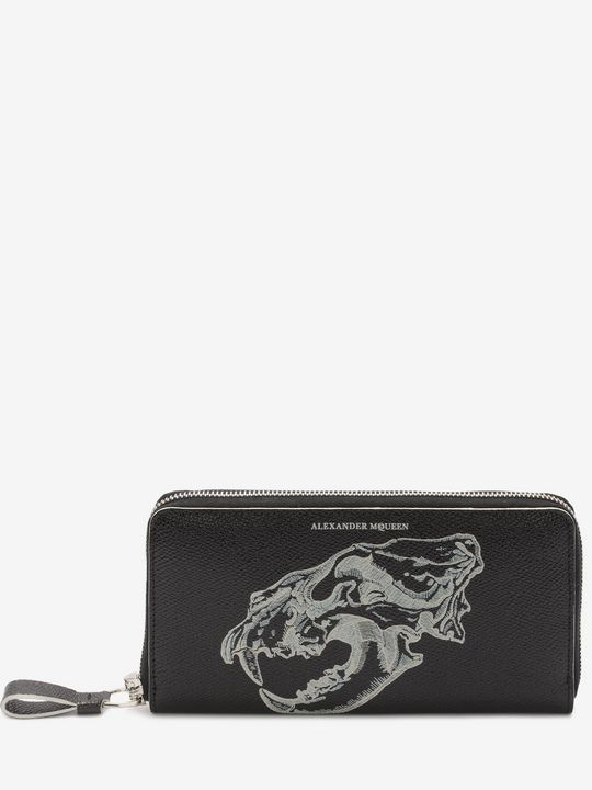 ALEXANDER MCQUEEN Wallet Man Lion Skull Long Zip Wallet f