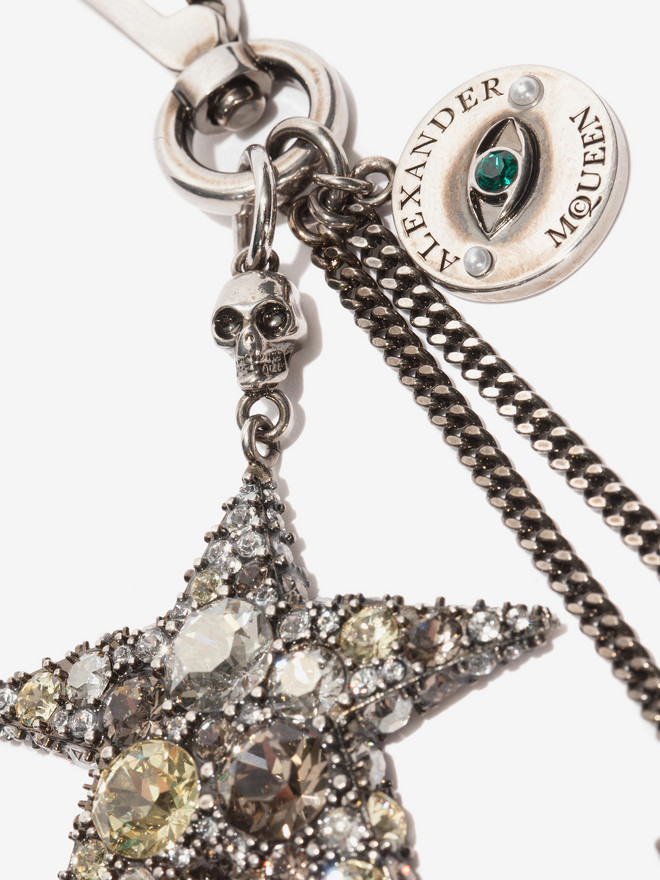 ALEXANDER MCQUEEN Jeweled Star Bag Charm Keyring D r