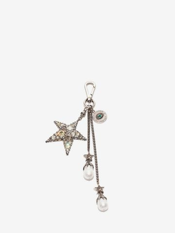 ALEXANDER MCQUEEN Jeweled Star Bag Charm Keyring D f