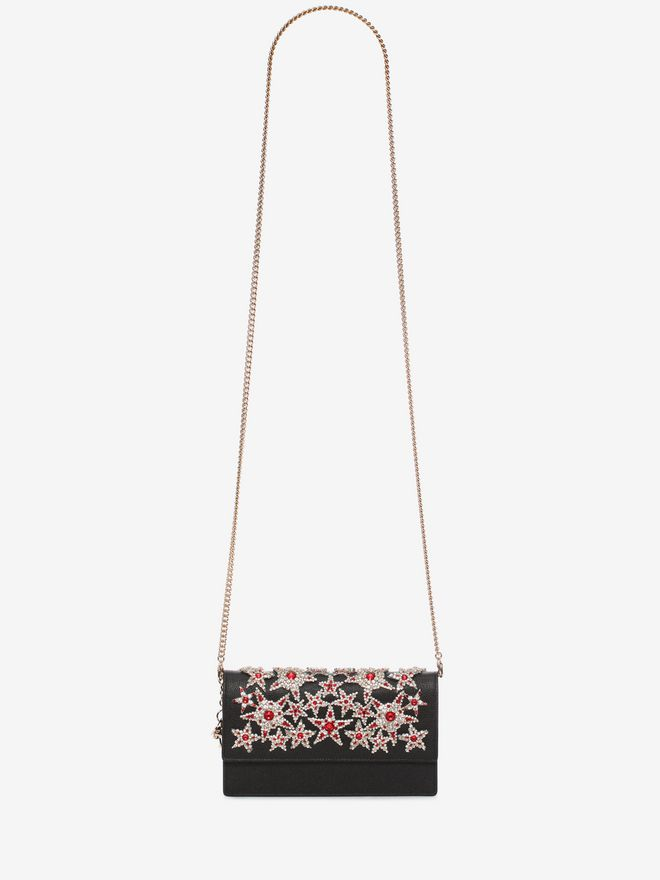 ALEXANDER MCQUEEN Insignia Chain Pouch Wallet with chain D a