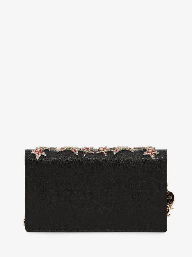 ALEXANDER MCQUEEN Insignia Chain Pouch Wallet with chain D d