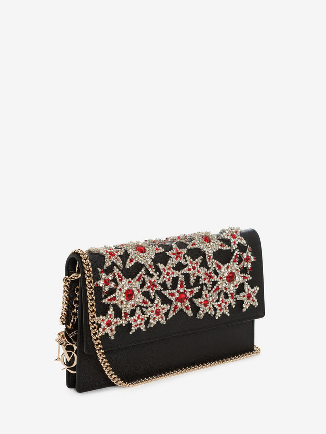 ALEXANDER MCQUEEN Insignia Chain Pouch Wallet with chain D r