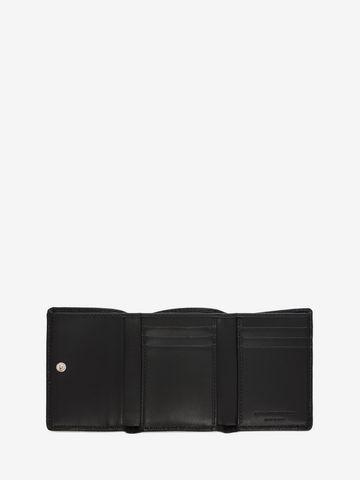 ALEXANDER MCQUEEN Natural Grain 3 Fold Wallet Card Holder U e