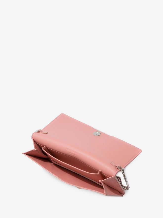 ALEXANDER MCQUEEN Insignia Chain Pouch Wallet with chain D e