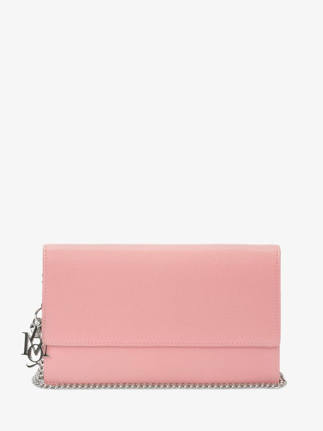 ALEXANDER MCQUEEN Insignia Chain Pouch Wallet with chain D f