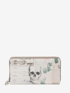 """Letters from India"" Print Continental Zipped Wallet"