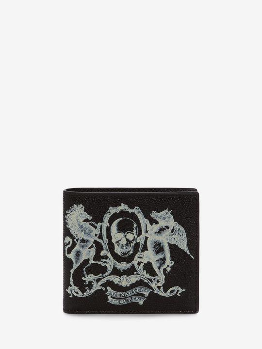 ALEXANDER MCQUEEN Coat of Arms Leather Billfold Wallet Wallet U f