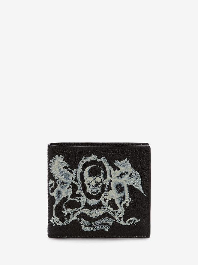 ALEXANDER MCQUEEN Coat of Arms Leather Billfold Wallet Wallet U f