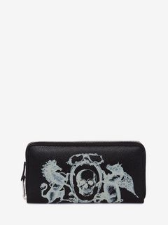 Coat of Arms Zipper Wallet