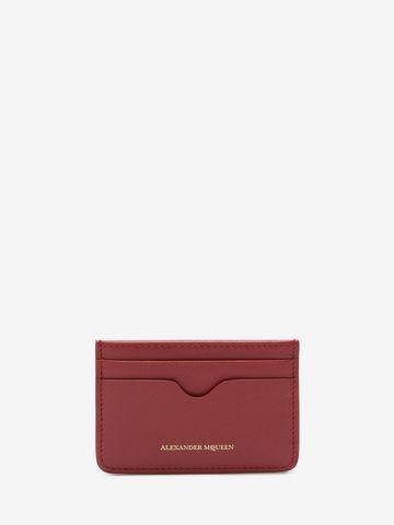 ALEXANDER MCQUEEN Leather Card Holder Card Holder D f