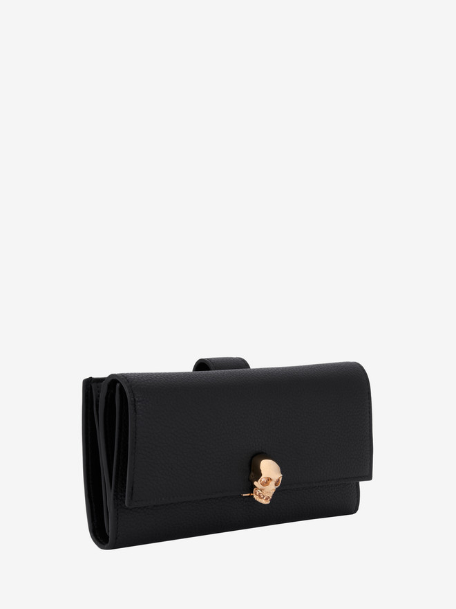 ALEXANDER MCQUEEN Continental Skull Leather Wallet Wallet D r