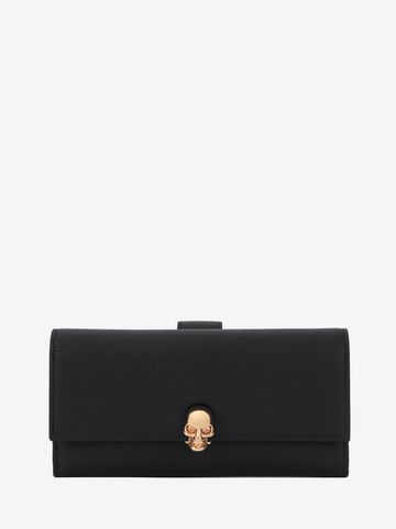 ALEXANDER MCQUEEN Continental Skull Leather Wallet Wallet D f