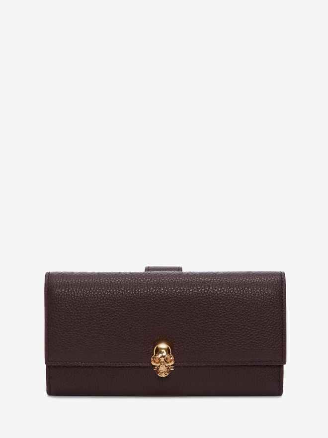ALEXANDER MCQUEEN Continental Skull Leather Wallet CONTINENTAL WALLET Woman f