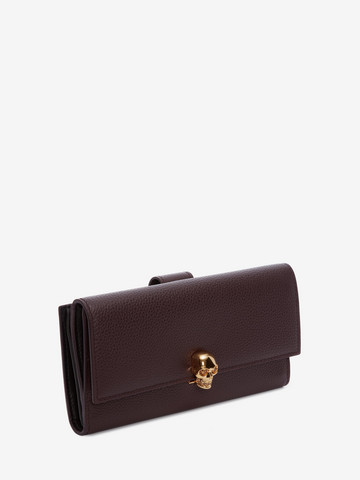 ALEXANDER MCQUEEN Continental Skull Leather Wallet CONTINENTAL WALLET Woman r