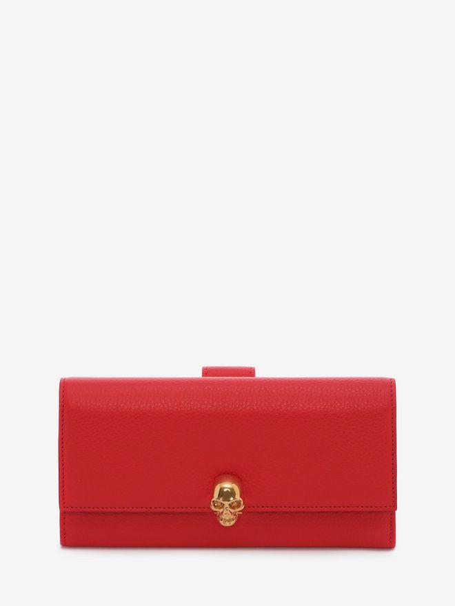 ALEXANDER MCQUEEN Continental Skull Leather Wallet Wallet Woman f