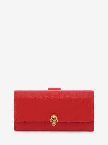 ALEXANDER MCQUEEN Continental Skull Leather Wallet Wallet D f