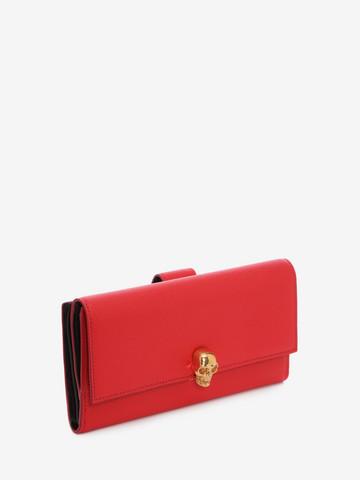 ALEXANDER MCQUEEN Continental Skull Leather Wallet Wallet Woman r
