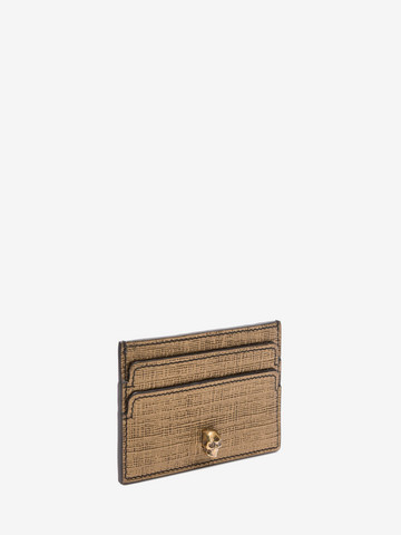 ALEXANDER MCQUEEN Leather Skull Card Holder Card Holder D r