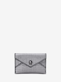 ALEXANDER MCQUEEN ENVELOPE CARD HOLDER Woman Skull Envelope Card Holder f