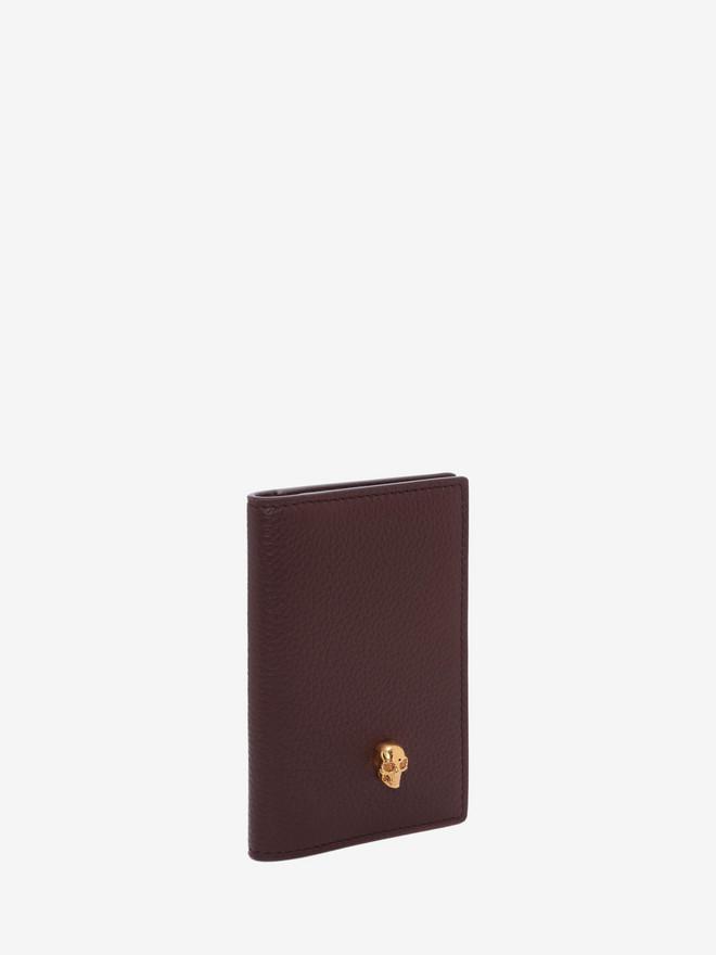 ALEXANDER MCQUEEN Leather Skull Pocket Organizer Card Holder D r