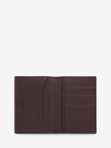 ALEXANDER MCQUEEN Leather Skull Pocket Organizer Card Holder D e