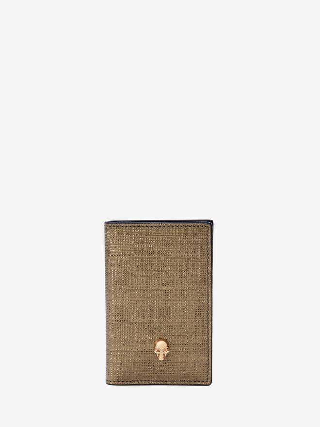 ALEXANDER MCQUEEN Leather Skull Pocket Organizer Card Holder D f