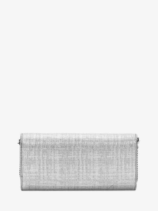 ALEXANDER MCQUEEN Continental Skull Leather Wallet Wallet with chain D e