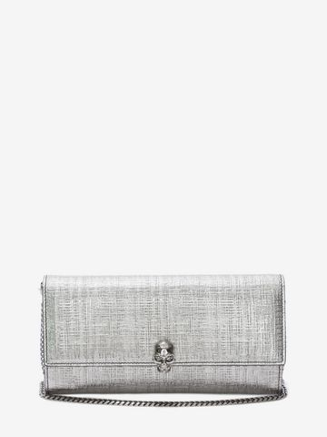 ALEXANDER MCQUEEN Continental Skull Leather Wallet Wallet with chain D f