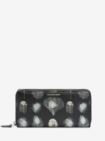 ALEXANDER MCQUEEN Feathers Long Zip Wallet Wallet Man f