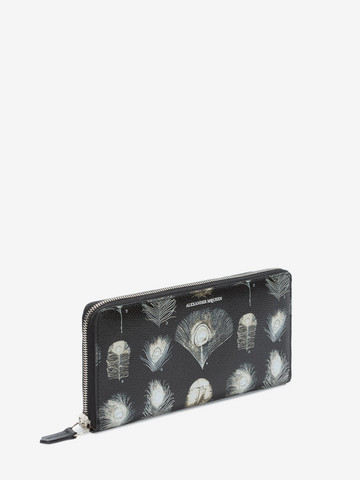 ALEXANDER MCQUEEN Feathers Long Zip Wallet Wallet Man r