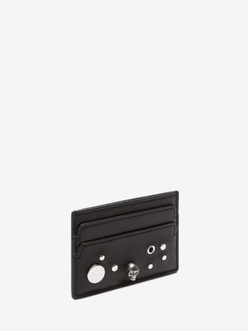 ALEXANDER MCQUEEN Eyelet and Stud Card Holder Card Holder D r