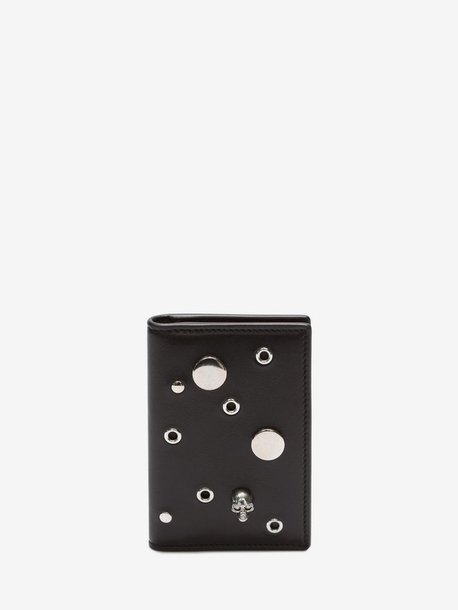 ALEXANDER MCQUEEN Eyelet and Stud Pocket Organizer Card Holder D f