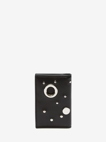 ALEXANDER MCQUEEN Eyelet and Stud Pocket Organizer Card Holder D d