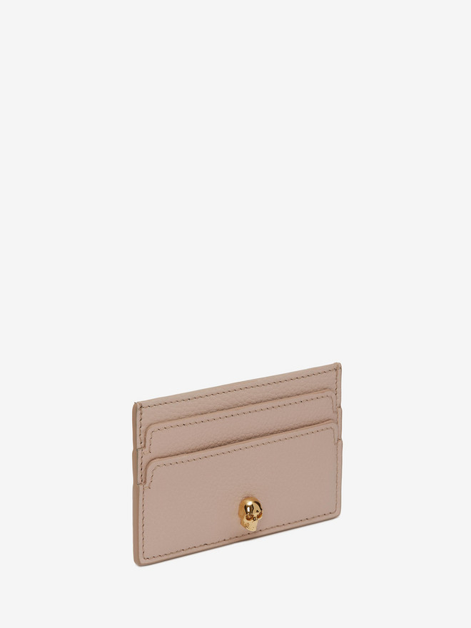 ALEXANDER MCQUEEN Leather Skull Card Holder Card Holder Woman r