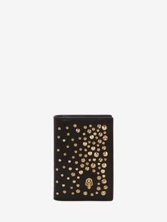 ALEXANDER MCQUEEN POCKET ORGANISER Woman Leather Skull Pocket Organiser f
