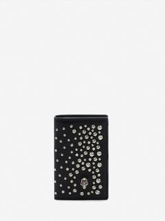 ALEXANDER MCQUEEN POCKET ORGANISER Woman Leather Skull Pocket Organizer f