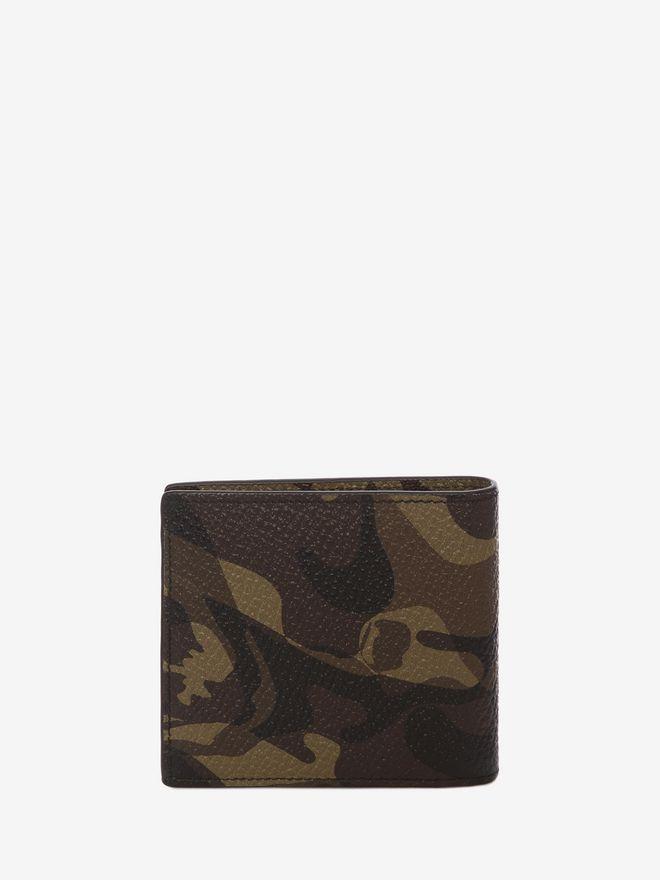 ALEXANDER MCQUEEN Camouflage Leather Billfold Wallet BILLFOLD 8CC WALLET Man d