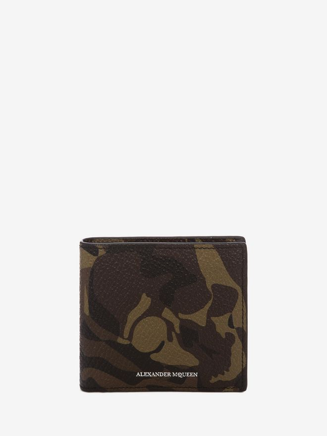 ALEXANDER MCQUEEN Camouflage Leather Billfold Wallet BILLFOLD 8CC WALLET Man f