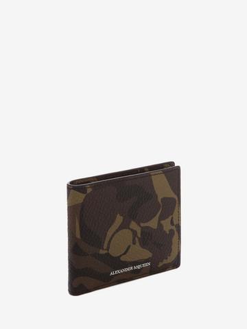 ALEXANDER MCQUEEN Camouflage Leather Billfold Wallet BILLFOLD 8CC WALLET Man r